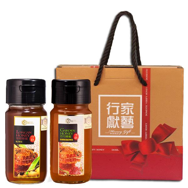 【行家獻藝】台灣驗證蜂蜜禮盒(龍眼+百花) 1