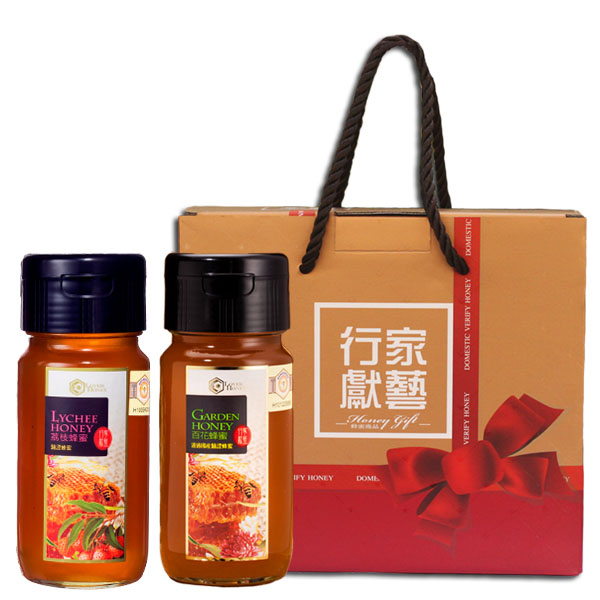 Craft Series  Certified Taiwanese Honey Gift Box (Hundred Flowers + Lychee) 1